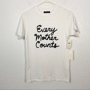NWT CoH X Anthropologie Every Mother Counts Tee